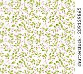 berries seamless pattern | Shutterstock .eps vector #209139865