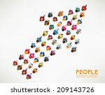 a big group of top view people... | Shutterstock .eps vector #209143726