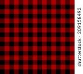 Red Scottish Seamless Tartan...