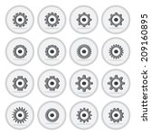 vector of flat icon  gear wheel ...