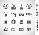 camera and flash icon set  each ... | Shutterstock .eps vector #209176912