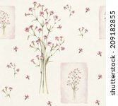 watercolor flowers illustration.... | Shutterstock . vector #209182855