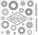 vector vintage burstings rays... | Shutterstock .eps vector #209189695