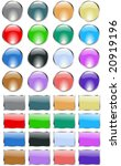 web design panels and buttons... | Shutterstock .eps vector #20919196