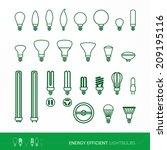 bulbs set   Shutterstock .eps vector #209195116