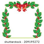 holly garland | Shutterstock .eps vector #209195272