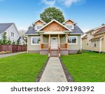 Small House Exterior. View Of...