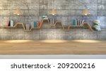 3d render of minimalist shelf... | Shutterstock . vector #209200216
