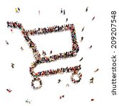people that like to shop. large ... | Shutterstock . vector #209207548