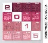 simple editable vector calendar ... | Shutterstock .eps vector #209209015