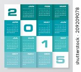 simple editable vector calendar ...   Shutterstock .eps vector #209209078