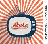 vintage background with word ... | Shutterstock . vector #209211802