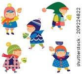 little children | Shutterstock .eps vector #209224822