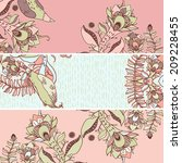 set of vector floral banners | Shutterstock .eps vector #209228455