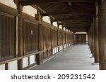 an image of horyuji corridor | Shutterstock . vector #209231542