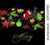 christmas card     | Shutterstock . vector #209232985