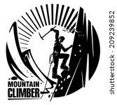 mountain climber. vector... | Shutterstock .eps vector #209239852