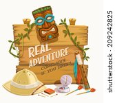 real adventure. vector... | Shutterstock .eps vector #209242825