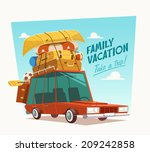 family vacation. vector... | Shutterstock .eps vector #209242858