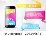 infographics desgin template... | Shutterstock .eps vector #209244646