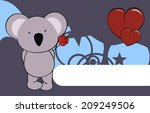 koala baby cute cartoon love... | Shutterstock .eps vector #209249506