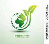 green earth concept with leaves ... | Shutterstock .eps vector #209259862