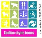 zodiac signs | Shutterstock .eps vector #209265862