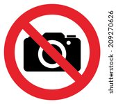 prohibition sign no photography | Shutterstock .eps vector #209270626