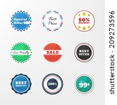 set of badges in the style... | Shutterstock .eps vector #209273596