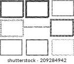 set of grunge frames  | Shutterstock .eps vector #209284942