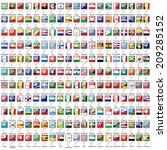 flags of the world on white... | Shutterstock .eps vector #209285152