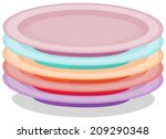 illustration of a stack of...   Shutterstock .eps vector #209290348