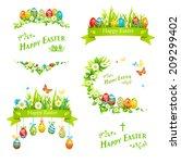 easter design elements set.... | Shutterstock . vector #209299402