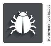 bug sign icon. virus symbol....