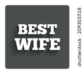 best wife sign icon. award...