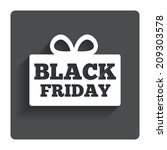 black friday gift sign icon....
