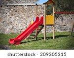 childrens slide childrens slide ... | Shutterstock . vector #209305315