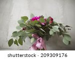 bridal bouquet with red and... | Shutterstock . vector #209309176