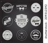 set of vintage styled design... | Shutterstock . vector #209312392