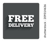 free delivery sign icon....