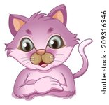 illustration of an adorable... | Shutterstock . vector #209316946