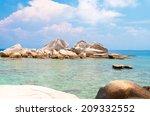 blue seascape idyllic island  | Shutterstock . vector #209332552