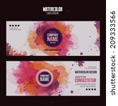 vector template banners with... | Shutterstock .eps vector #209333566