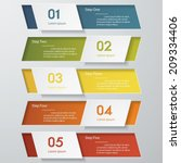 design clean number banners... | Shutterstock .eps vector #209334406
