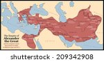 the empire of alexander the... | Shutterstock .eps vector #209342908
