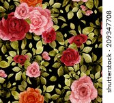 seamless floral pattern with... | Shutterstock . vector #209347708