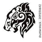 tribal lion head formed by the... | Shutterstock .eps vector #209350642