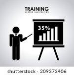 training design over gray... | Shutterstock .eps vector #209373406