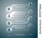 glass infographics vector... | Shutterstock .eps vector #209374666