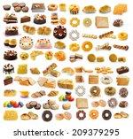 thailand dessert  bread  cake ...   Shutterstock . vector #209379295